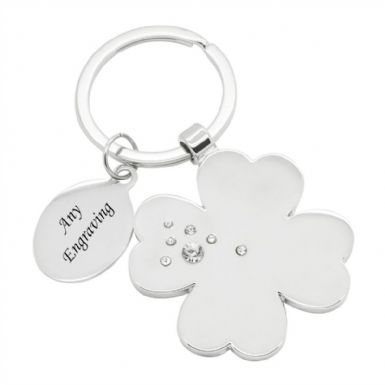 Lucky Clover Personalised Keyring | Someone Remembered